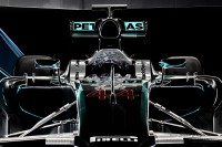 front view of Mercedes F1 W05 Hybrid formula one car at goodwood festival of speed