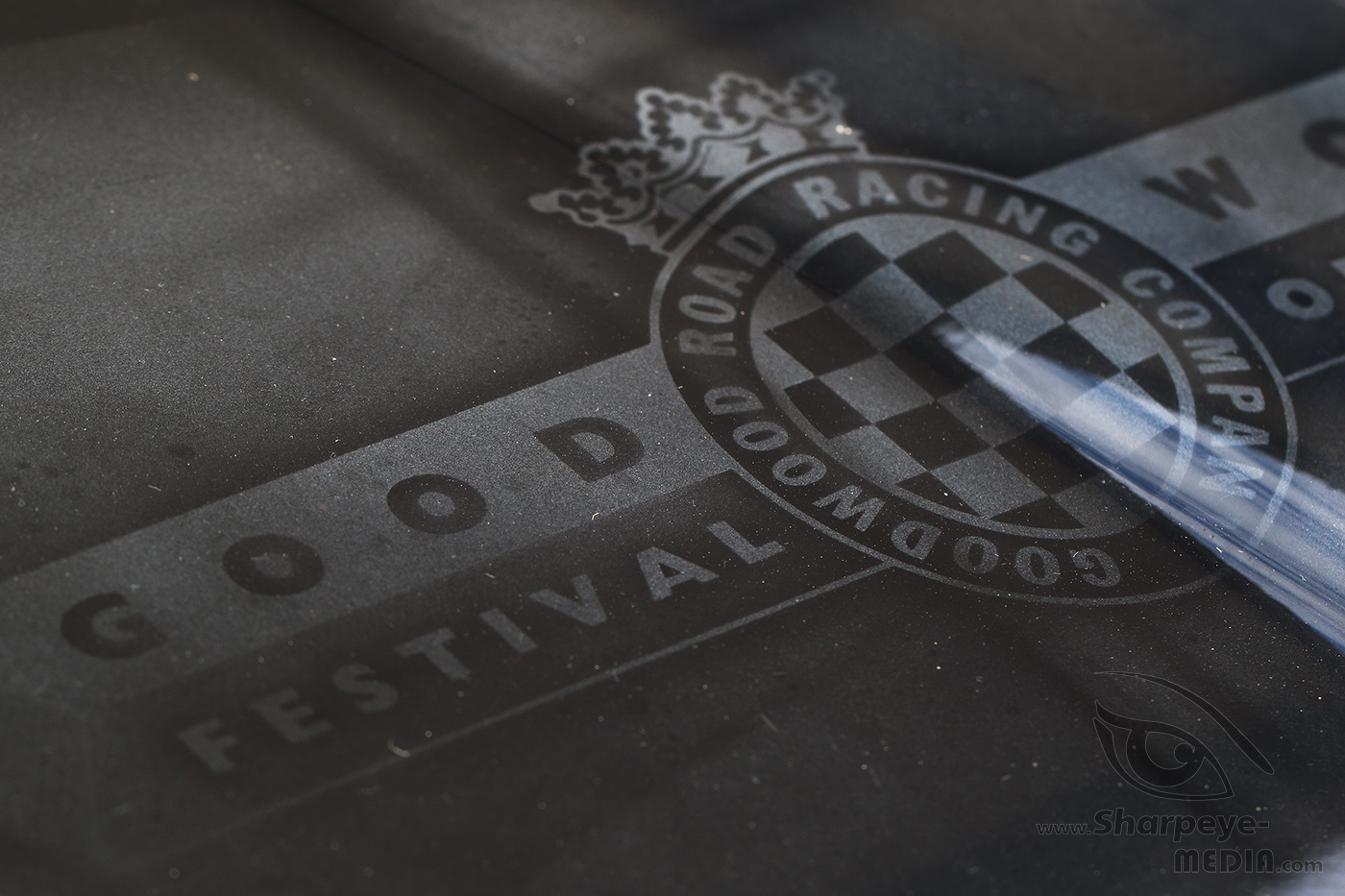 Bonnet of Maserati with Goodwood Festival of Speed logo