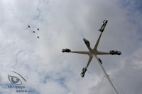aerobatic team the blades passing porsche monument at goodwood festival of speed 2018