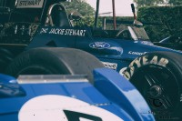 blue Tyrrell Cosworth 002 from 1971 at goodwood festival of speed