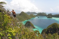 our photographer daniel in raja ampat