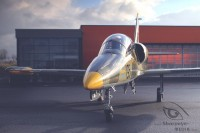 green L-39 in front of Hangar 2 at Airport Paderborn Lippstadt